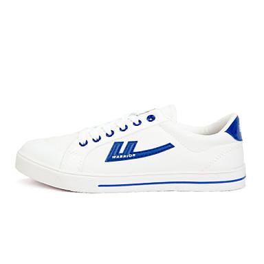 Miehet kengät Canvas Kevät Syksy Comfort Lenkkitossut Käyttötarkoitus Kausaliteetti Punainen/valkoinen Musta/punainen Valkoinen/sininen