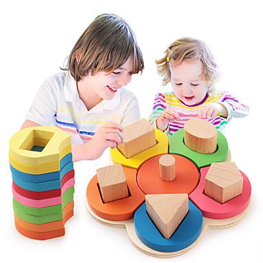 Ferramentas de Ensino Montessori Blocos de Construir Brinquedo Educativo 1 pcs Flor Educação Para Meninos Para Meninas Brinquedos Dom