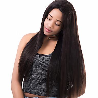 Remy Lace Parykk 360 Frontal Helblonde Helblonder uten lim 100 % håndknyttet Afroamerikansk parykk Naturlig hårlinje 180% tetthet Svart