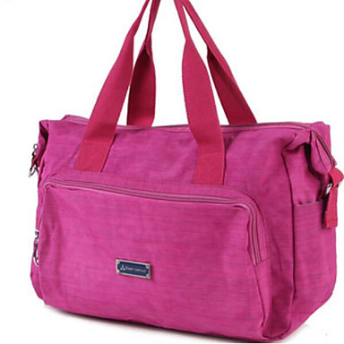 Unisex Travel Bag Oxford Cloth Polyester All Seasons Casual Outdoor Round Zipper Purple Fuchsia Lake blue