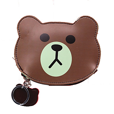 Unisex Bags PU Money Clip Animal Print for Shopping Daily Casual All Seasons Dark Brown Sky Blue Red Green Pink