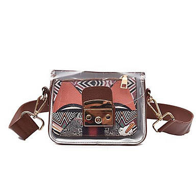 Women Bags All Seasons PU Shoulder Bag for Casual Outdoor Blue Gray Brown
