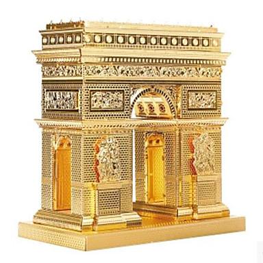 Quebra-Cabeças 3D Quebra-Cabeça Quebra-Cabeças de Metal Brinquedos de Montar Construções Famosas Arquitetura 3D Arco do Triunfo Faça Você