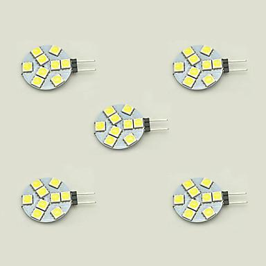 5pçs 1.5 W 148 lm G4 Luminárias de LED  Duplo-Pin T 9 Contas LED SMD 5050 Branco Quente / Branco 12 V / 5 pçs