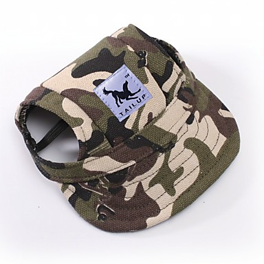 3b956f7d083 Cat Dog Bandanas   Hats Dog Clothes Camo   Camouflage White   Blue White    Pink Leopard Terylene Costume For Spring   Fall Summer Men s Women s Sports