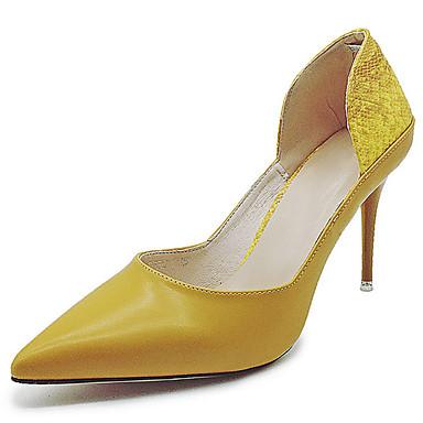 Naiset Sandaalit Comfort Kumi Kesä Kävely Comfort Piikkikorko Valkoinen Keltainen Vaaleanruskea Alle 1in