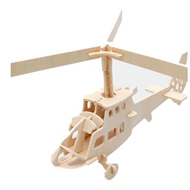 voordelige 3D-puzzels-3D-puzzels Legpuzzel Houten modellen Vliegtuig Beroemd gebouw Helikopter DHZ Puinen Klassiek Kinderen Unisex Jongens Meisjes Speeltjes Geschenk