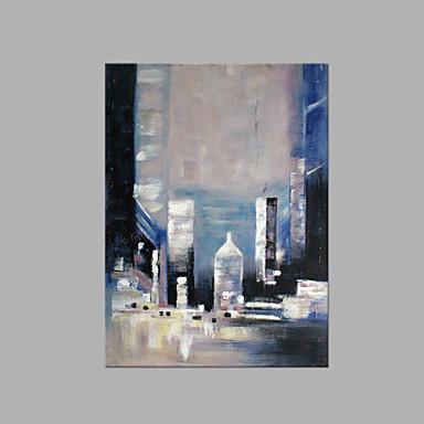 Pintados à mão Abstrato Vertical, Estilo Praia Tela de pintura Pintura a Óleo Decoração para casa 1 Painel