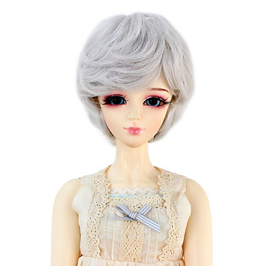Syntetiske parykker Bølget Dame Doll Wig Syntetisk hår