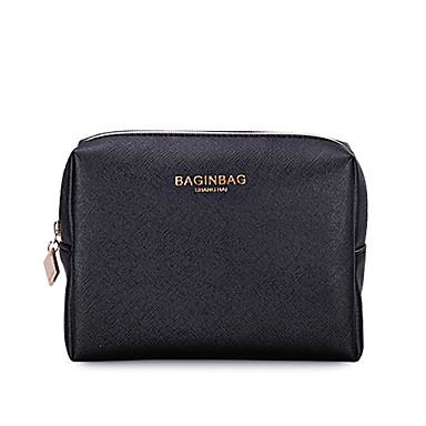 Women Storage Bag PU All Seasons Casual Baguette Zipper Black Orange Blushing Pink Almond khaki
