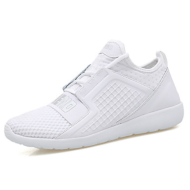 Men's Shoes PU Spring Fall Comfort Athletic Shoes for Outdoor White Black Red