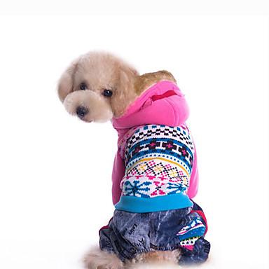 Cachorro Camisola com Capuz Roupas para Cães Geométrica Azul / Rosa claro Plumagem / Algodão Ocasiões Especiais Para animais de estimação Homens / Mulheres Casual