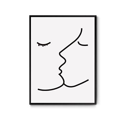Conjunto Emoldurado Abstrato Ilustração Arte de Parede, Madeira Material com frame Decoração para casa Arte Emoldurada Escritório