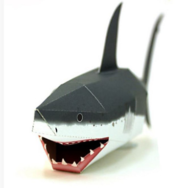 3D Puzzles Paper Model Paper Craft Model Building Kit Fish Shark DIY Classic Kid's Unisex Gift