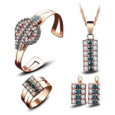 Mulheres Cristal Zircônia cúbica Chapeado Dourado Conjunto de jóias - Euramerican Fashion Outros Dourado Sets nupcial Jóias Para