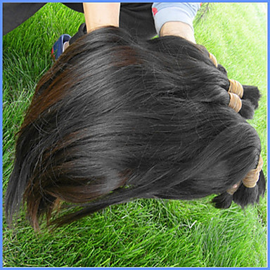 Virgin Human Hair Remy Weaves African American Wig / For Black Women Brazilian Hair 300 g More Than One Year
