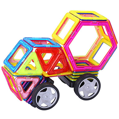 Magnet Toy Magnetic Blocks Toy Car Building Blocks 3D Puzzle Jigsaw Puzzle Educational Toy Stress Reliever Magnetic DIY Novelty Boys'