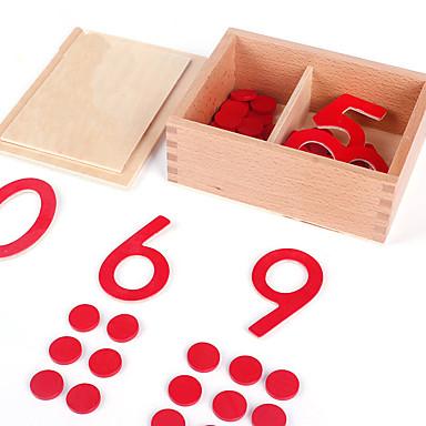 Cartões Educativos Ferramentas de Ensino Montessori Blocos de Construir Brinquedos Matemáticos Brinquedo Educativo Quadrada