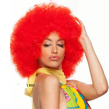 Perucas sintéticas Encaracolado Afro Sem Touca Mulheres Loiro Peruca de carnaval Peruca de Halloween Peruca Natural Curto