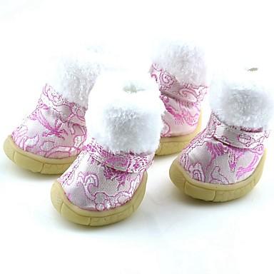 Cachorro Sapatos e Botas Fantasias Botas de Neve Desenho Animado Vermelho Azul Rosa claro Para animais de estimação