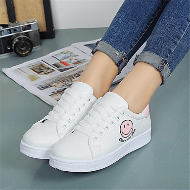 Women's Shoes Breathable Mesh PU Spring Comfort Sneakers For Casual Pink/White White/Yellow