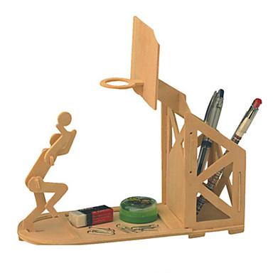 voordelige 3D-puzzels-Wooden Pen Holder 3D-puzzels Ballen Legpuzzel Meubilair Basketball DHZ Puinen Klassiek Kinderen Volwassenen Unisex Jongens Meisjes Speeltjes Geschenk / Houten modellen