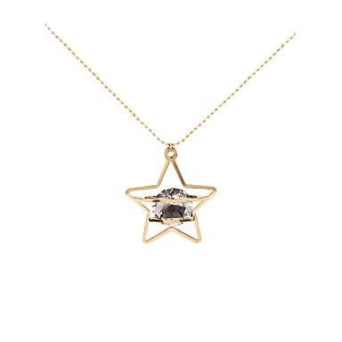 Mulheres Colares com Pendentes - Estrela Personalizada, Geométrico, Original Dourado Colar Para Presentes de Natal, Casamento, Festa