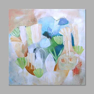 Pintados à mão Abstrato Quadrada, Estilo Moderno Tela de pintura Pintura a Óleo Decoração para casa 1 Painel