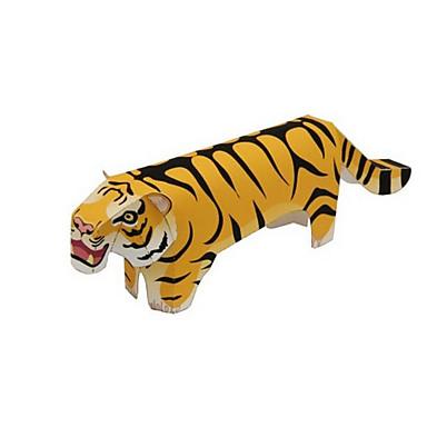 voordelige 3D-puzzels-3D-puzzels Legpuzzel Modelbouwsets Tiger Dieren DHZ Inrichting artikelen Klassiek Cartoon Kinderen Unisex Speeltjes Geschenk