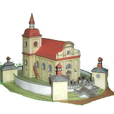 Quebra-Cabeças 3D Artesanato de Papel Construções Famosas Casa Arquitetura Simulação Faça Você Mesmo Cartão de Papel Duro Crianças Para