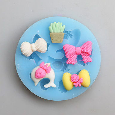 Bakeware-työkalut Silikoni Kiitospäivä Uusivuosi Syntymäpäivä Candy kakku Muotit