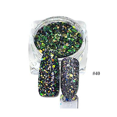 1pcs Nail Smykker / Glitter & Poudre / DIY Utstyr Glitters / Geometrisk / Klassisk Smuk Daglig