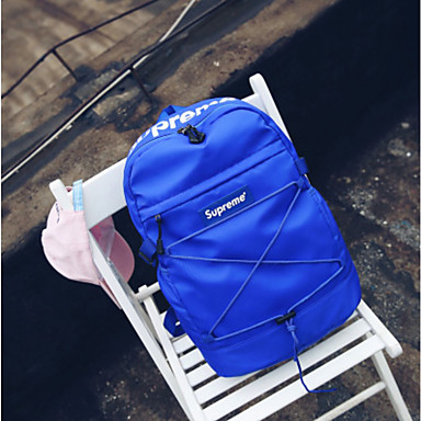 Unisex Bags Oxford Cloth Backpack for Casual All Seasons Blue Black Red Yellow