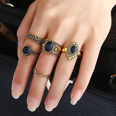 Naisten mansetti Ring Sormus Band Ring Kulta Metalliseos Hartsi Metalli Pyöreä Circle Shape Pyöreä Klassinen Vintage Tee se itse