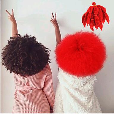 8-10inch Red Kanekalon Afro Kinky Braids Twist Havana Curly Synthetic Hair Braids 100g
