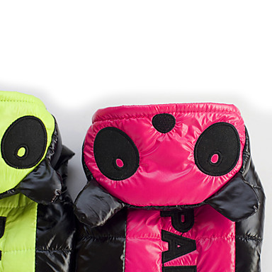Dog Coat Dog Clothes Warm Keep Warm Letter & Number Fuchsia Green Costume For Pets