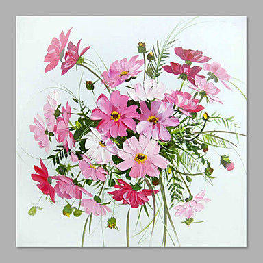 Oil Painting Hand Painted - Floral / Botanical Artistic Canvas