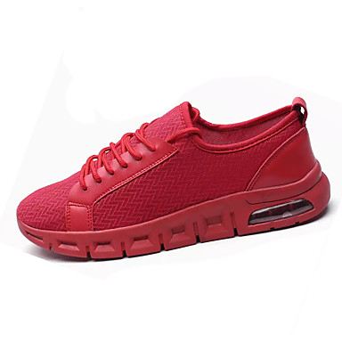 Miesten kengät PU Kevät Syksy Comfort Lenkkitossut varten ulko- Valkoinen Musta Punainen
