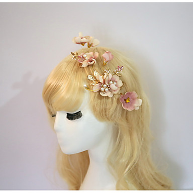 Resin Cotton Flowers Hair Clip Hair Stick Headpiece Elegant Style