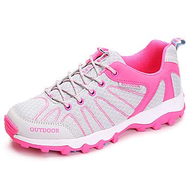 Mulheres Sapatos Couro Ecológico Primavera Outono Conforto Solados com Luzes Tênis Aventura Sem Salto Ponta Redonda Cadarço para Atlético