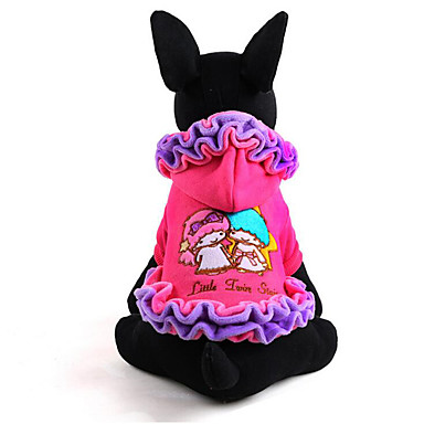 Dog Dress Dog Clothes Princess Purple Pink Cotton Costume For Pets Men's Women's Casual / Daily