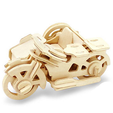 Toy Car 3D Puzzles Jigsaw Puzzle Wood Model Dinosaur Tank Plane / Aircraft Moto 3D Animals DIY Wood Classic Kid's Unisex Gift