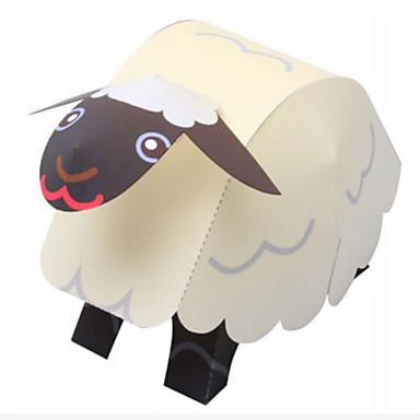 3D Puzzles Paper Model Paper Craft Model Building Kit Sheep Animals DIY Classic Cartoon Kid's Boys' Unisex Gift