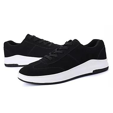 Homens sapatos Couro Ecológico Primavera Outono Conforto Tênis para Ao ar livre Branco Preto Vermelho