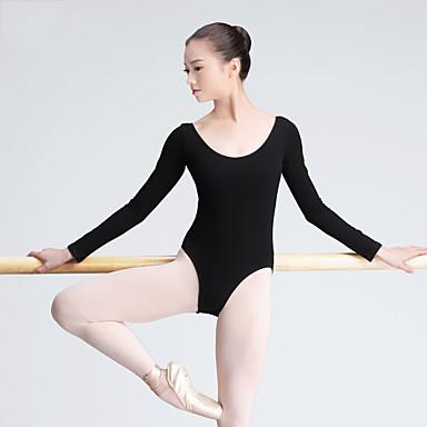 Ballett Trikoter Dame Trening Bomull Langermet Høy Trikot/Heldraktskostymer