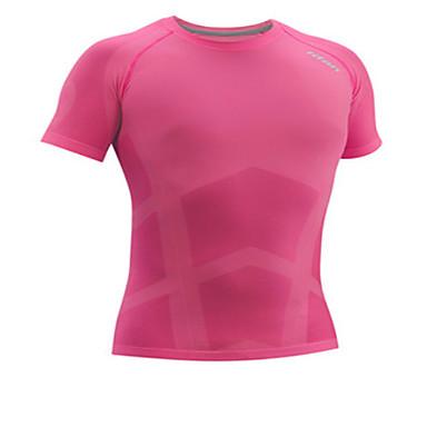 Herre T-skjorte til jogging Fitness, Løping & Yoga Fort Tørring Genser Topper til Løper Trening & Fitness Tett Svart Grå Yan Rosa