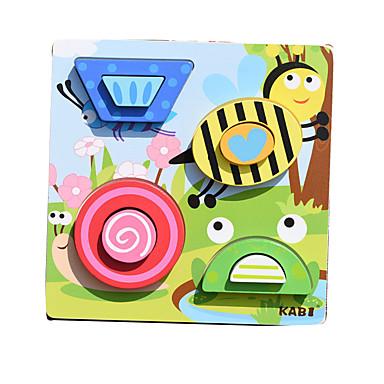 Carros de Brinquedo Blocos de Construir Quebra-Cabeça Jogos de Madeira Brinquedo Educativo Animais Quadrada Crianças Dom