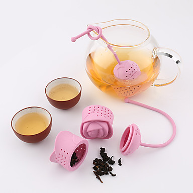 1Pc Creative Rose   Silicone Tea Strainer  Texture Tea Infuser