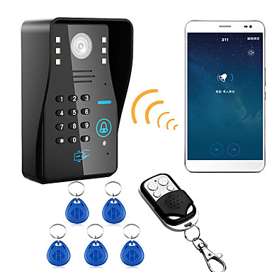 720p langaton wifi rfid salasana videon ovipuhelin ovipuhelinjärjestelmä yönäkö vesitiivis kamera sadesuojalla