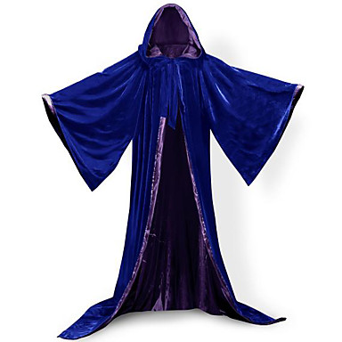 Wizard Coat Cosplay Costume Cloak Witch Broom Masquerade Party Costume Halloween Props Unisex Christmas Halloween Carnival New Year